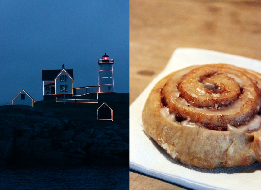 Nubble Lighthouse & Cinnamon Buns