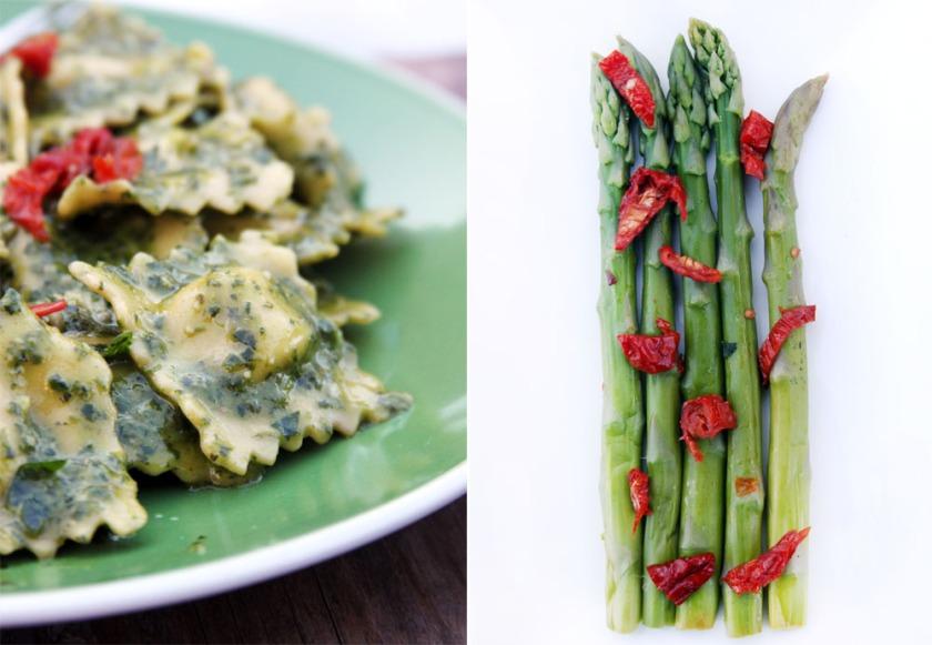Pesto pasta and asparagus