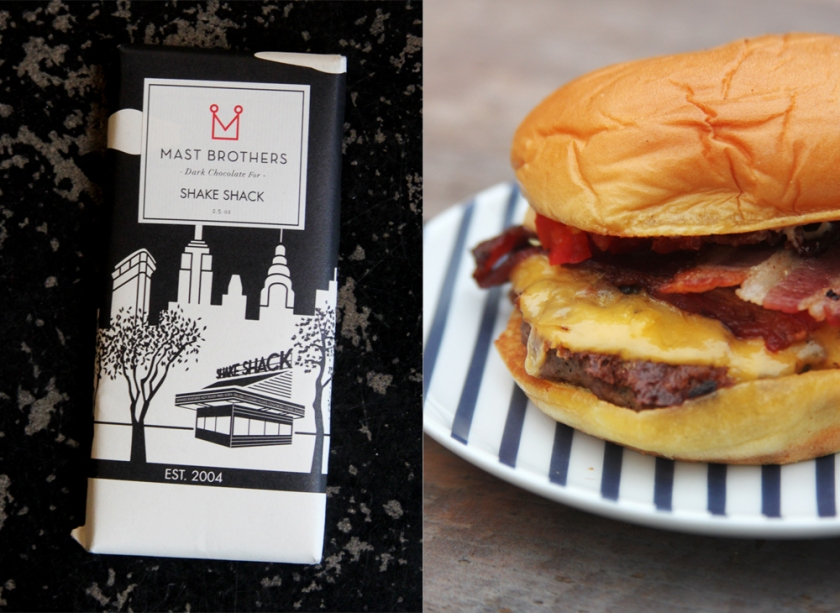 Mast Brothers Chocolate Bar-- A Shake Shack dark chocolate blend with earthy notes of cranberry and cinnamon