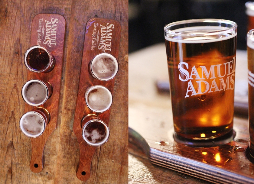 Beer flights including Third Shift Amber Lager, Radeberger to name a couple